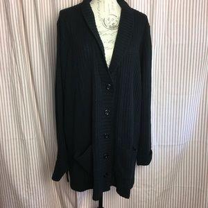 Liz Baker Black Cardigan Size 3X
